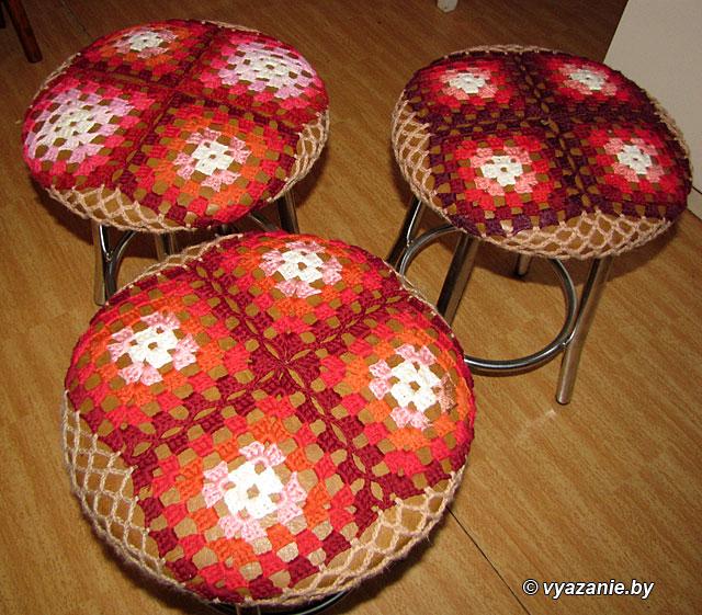 Вязание чехлов для табуреток